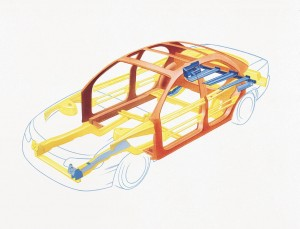 Cadillac-Catera-Fahrgastzelle